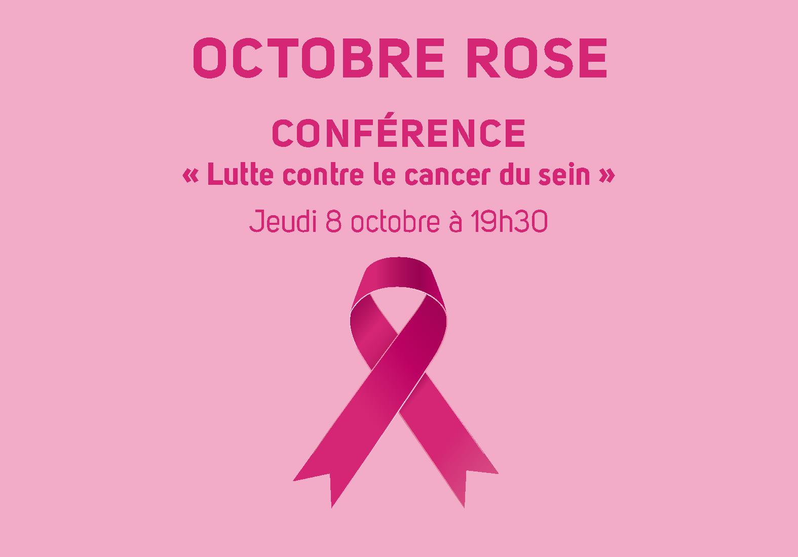 Conférence : « Lutte contre le cancer du sein »
