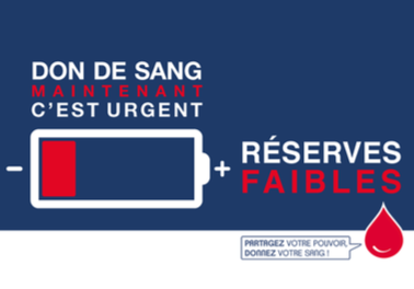 APPEL NATIONAL URGENT AU DON DE SANG